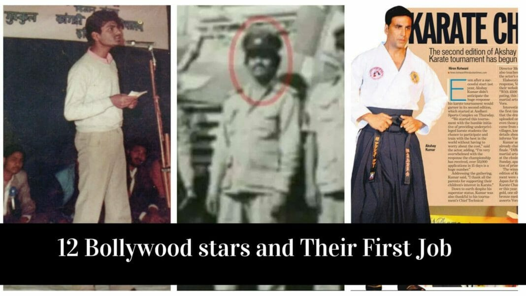 12 Bollywood Celebrities and Their First Job Before Getting Their First Break