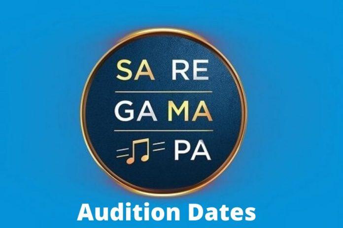 Sa Re Ga Ma Pa Audition Dates